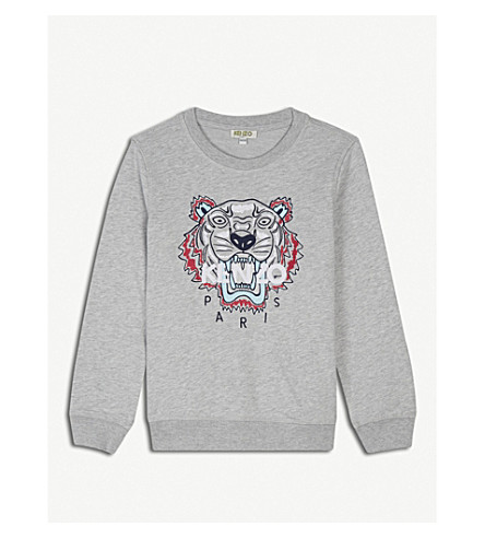 KENZO Tiger cotton-blend jumper 4-16 years (Grey