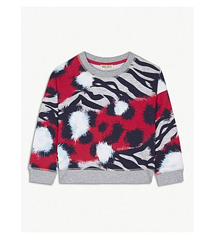 KENZO Tiger print jumper 4-16 years (Fushia