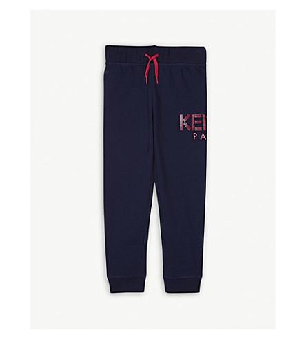 KENZO Logo cotton-blend jogging bottoms 4-16 years (Navy