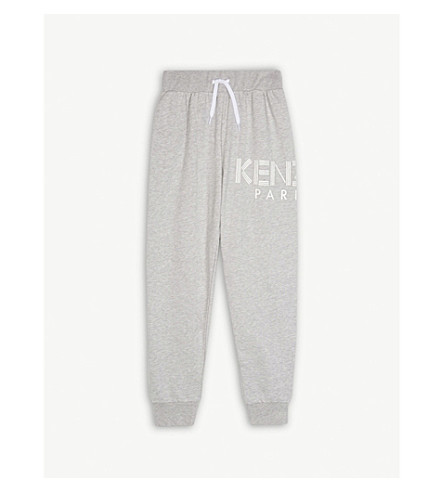 KENZO Logo cotton-blend jogging bottoms 4-16 years (Grey