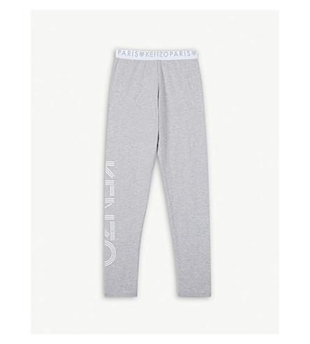 KENZO Logo cotton-blend leggings 4-16 years (Grey