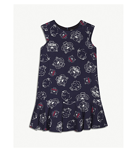 KENZO Tiger print dress 4-16 years (Navy
