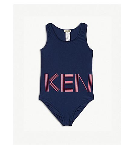 KENZO Logo swimsuit 4-16 years (Navy