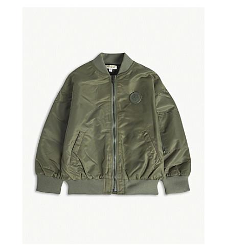 KENZO Logo bomber jacket 4-16 years (Khaki