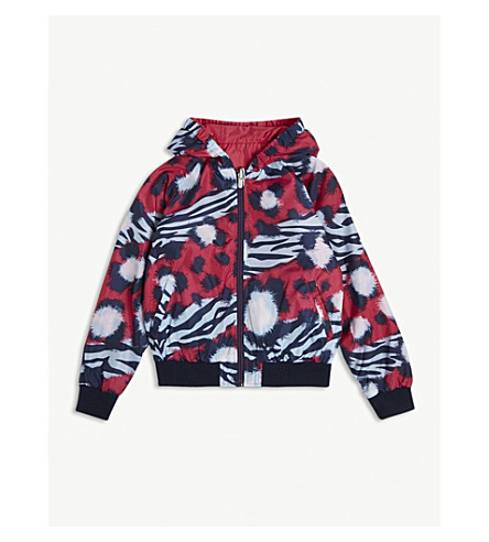 KENZO Tiger print shell jacket 4-16 years (Fushia