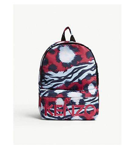 KENZO Tiger print backpack (Fushia