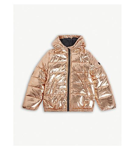 KENZO Metallic puffer jacket 4-16 years (Copper