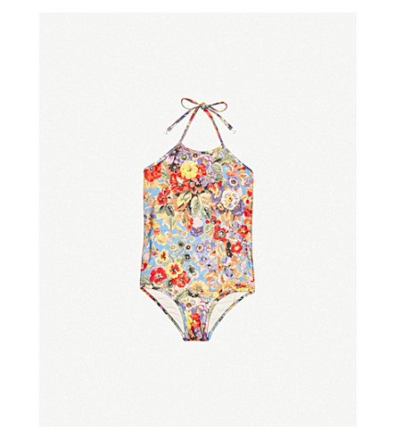 ZIMMERMANN Lovelorn floral-print swimsuit 4-10 years (Blue+floral