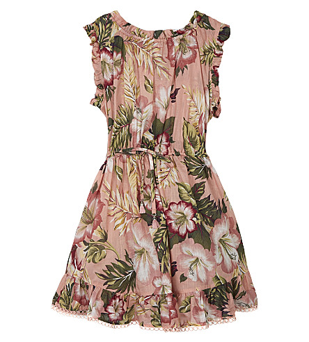 ZIMMERMANN Kali Tropical floral-print cotton dress 4-10 years (Floral