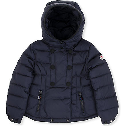 MONCLER Double-breasted padded coat 2-6 years (Navy