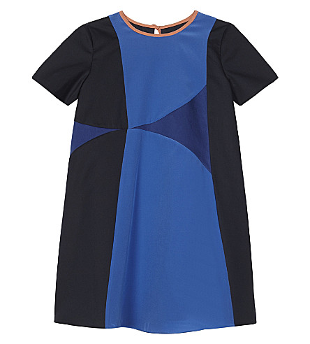 ROKSANDA ILINCIC Kaya cotton-silk blend dress 4-12 years (Electric+blue/navy