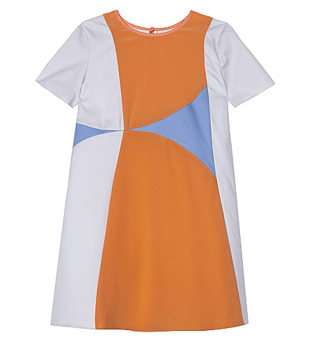 ROKSANDA ILINCIC Kaya cotton-silk blend dress 4-12 years (Apricot/blue/lilac