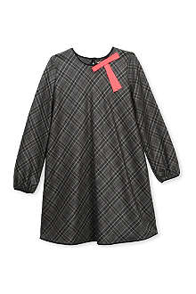 ROKSANDA ILINCIC Bow detail long-sleeve check dress 2-10 years