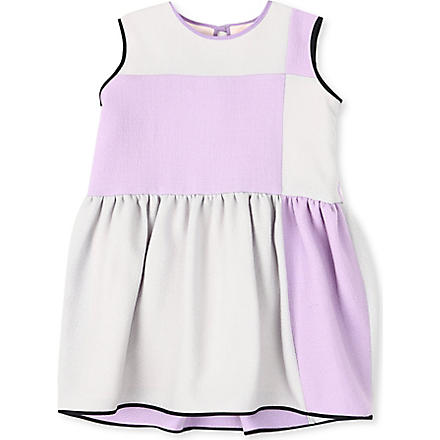 ROKSANDA ILINCIC Edlin colour-block wool crepe dress 2-10 years (Lavender/grey