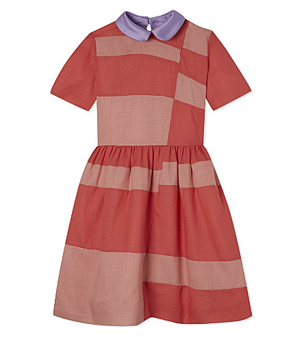 ROKSANDA ILINCIC Peterpan collar short sleeve dress 4-10 years (Rose/watermelon/lilac