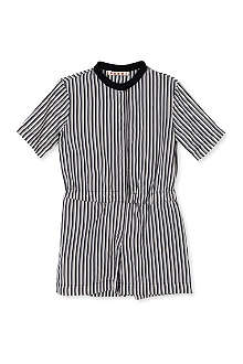 MARNI Striped contrast neckline playsuit 2-12 years