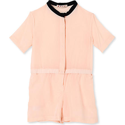 MARNI Contrast neckline playsuit 2-12 years (Pink