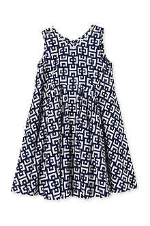 MARNI Geometric v-neck dress 2-12 years