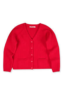 MARNI Knitted V-neck cardigan 4-12 years