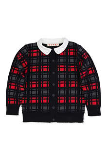 MARNI Checked collar cardigan 4-12 years