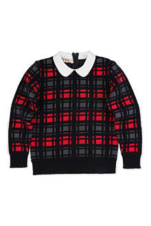 MARNI Checked collar jumper 4-12 years