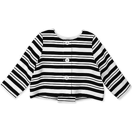 HUCKLEBONES Striped jacket 2-10 years (Navy
