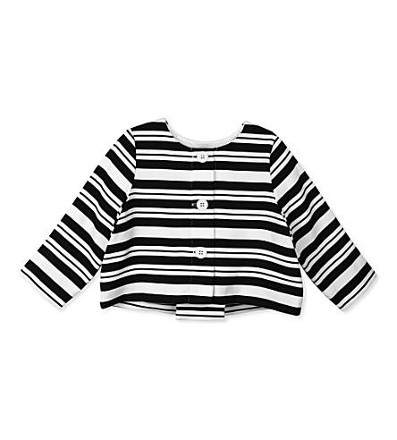 HUCKLEBONES Striped jacket 2-10 years (Navy