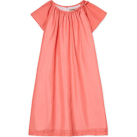 HUCKLEBONES Flutter sleeve dress 2-10 years (Coral