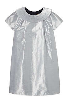 HUCKLEBONES Metallic pleated dress 2-10 years
