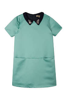 HUCKLEBONES Satin shift dress 2-10 years
