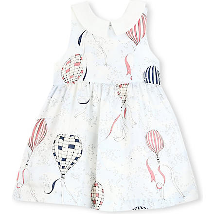 HUCKLEBONES Printed-bodice dress 2-10 years (Blue