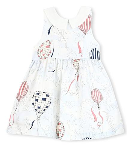 HUCKLEBONES Printed-bodice dress 2-10 years (Blue