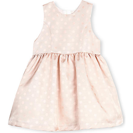 HUCKLEBONES Jacquard spot dress 2-10 years (Pink
