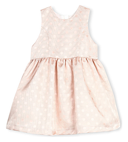 HUCKLEBONES Buttercup jacquard bodice dress 2-10 years (Pink