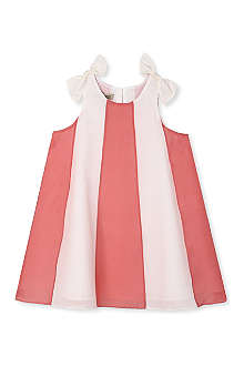 HUCKLEBONES Stripe trapeze dress 2-10 years