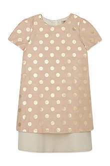 HUCKLEBONES Polka dot tiered shift dress 2-10 years