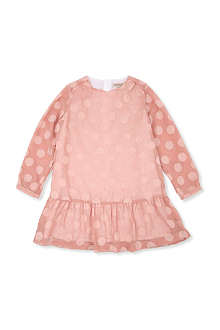 HUCKLEBONES Polka dot drop-waist dress 2-10 years