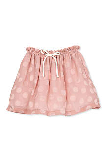 HUCKLEBONES Ruffle polka-dot skirt 2-10 years