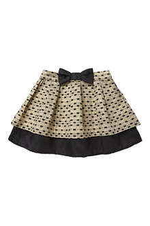HUCKLEBONES Tiered jaquard skirt 2-10 years