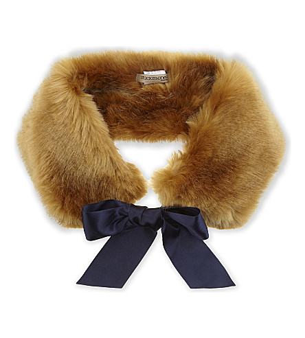 HUCKLEBONES Faux-fur stole (Ginger+bread