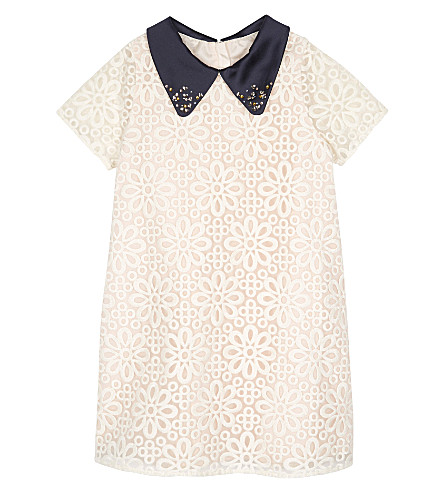 HUCKLEBONES Lace dress 4-10 years (Blush/cream