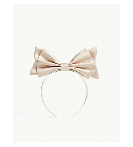 HUCKLEBONES Present bow hairband (Blush