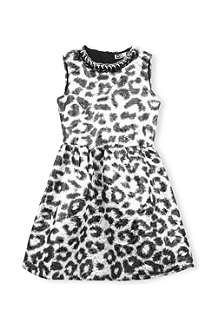 MSGM Metallic leopard print dress 4-14 years