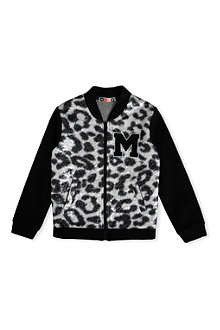 MSGM Metallic leopard bomber jacket 4-14 years