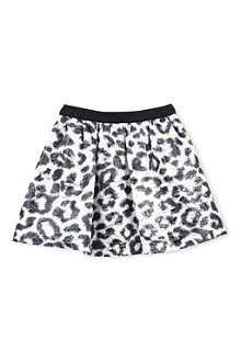MSGM Metallic leopard print skirt 4-14 years