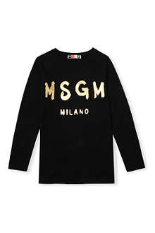 MSGM Logo cotton t-shirt 4-14 years