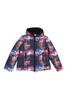 MSGM Padded floral-print jacket