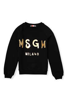 MSGM Logo jersey sweatshirt 4-14 years