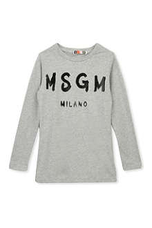 MSGM Long-sleeved cotton top 4-14 years