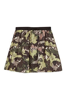 MSGM Snake printed skirt 4-12 years